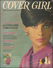 1967 Vintage ad Cover Girl Makeo-up by Noxzema Pretty Model Pink Robe 062917