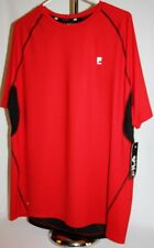 Nwt Fila Sport - Mens Red & Black Athletic Ss Sports Shirt Top - Xxl 2Xl