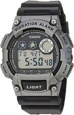 Casio Men's Digital Black Resin Band, 100 Meter WR, Vibration Alarm, W735H-1A3V