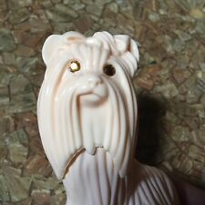 Vtg 76 Avon Princess Of Yorkshire Topaze Cologne Yorkie Terrier figurine bottle