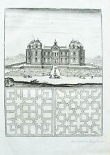 1704 Verneuil-sur-Oise Kupferstich-Ansicht Böckler