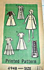 "VINTAGE MAIL ORDER Fits 11.5"" BARBIE, MIDGE DOLL CLOTHES Pattern 4948"