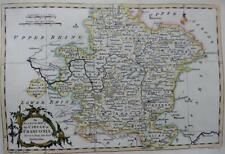 GERMANY FRANCONIA GENUINE COPPER ENGRAVED ANTIQUE MAP BY GEORGE ROLLOS  c1760