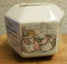Beatrix Potter Mrs Tiggy-winkle Coin Money Piggy Kids Bank Wedgewood Hexagon Guc