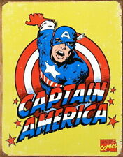 Captain America Marvel  Retro Comic Collectible Metal Tin Sign 12x16 made in USA