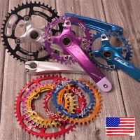 30-52T Crankset Crank 104mm Narrow Wide Single MTB Bike Chainring Sprocket Chain