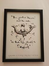 CHARLIE MACKESY FRAMED BOOK EXTRACT .' THE BOY,THE MOLE, THE FOX AND THE HORSE.