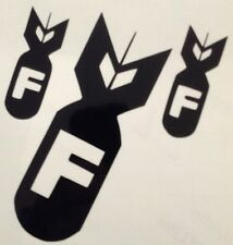 F Bombs Decal Sticker New Outdoor Quality Vinyl Colour Choice Buy 2 Get 1 Free