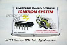 BSA Triumph Twin elektr. Zündung Boyer mit Kennlinie ignition unit Micro Digital