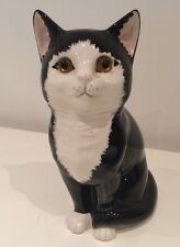 Just Cats & Co Staffordshire Black And White Cat Ornament