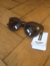 Occhiali da sole TOPMAN-Black Frame-Rotonda Lente-Nuovo con Etichetta-SPEDIZIONE GRATUITA