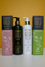 NATURAL HERBAL PREMIUM GOLD HEALTHY & SHINY HAIR GROWTH SHAMPOO AND CONDITIONER