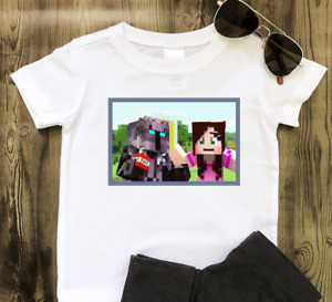 PopularMMO Pat and Jen Childrens Kids Tshirt YouTube Fan  - Free Personalisation