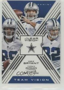 2015 Panini Clear Vision Team Dez Bryant Jason Witten Tony Romo #TV-8