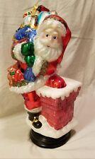Glass Santa Claus Christmas Holiday Decor
