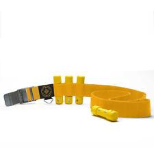 Scuba Diving Yellow Weight Belt w/4Pcs Yellow Slug Weights Set