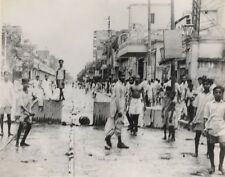 India Calcutta Rioters & Police Clash Old Photo 1952