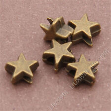 50pc Antique Bronze Five-Pointed Star Spacer Beads Findings Accessories B303P