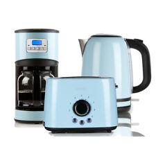 Retro Design Frühstücksset in pastell blau Kaffeemaschine Toaster Wasserkocher