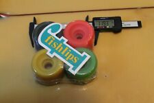 Neon Multi-Color Dogtown Soft 60mm 1980's W1 Vintage Set 4 Skateboard Wheels