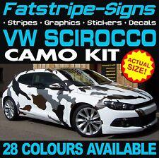 VW SCIROCCO CAMO GRAPHICS STICKERS STRIPES DECALS VOLKSWAGEN 1.4 2.0 R D TDi