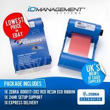 Zebra ruban rouge pour P100i, P110i, P110m, P120i imprimantes * 1000 gravures