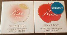 Nina ricci Duo Gift Set 60ml. 30ml Nina L'eau Eau Fraiche & 30ml Nina EDT