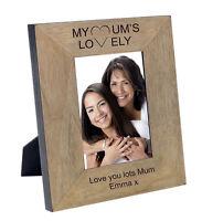 Engraved Mothers Day Keepsake Photo Frame Oak Wood Veneer Your Own Message #1