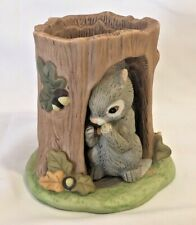 Woodland Surprises SQUIRREL 2 piece porcelain figurine Franklin Mint 1984