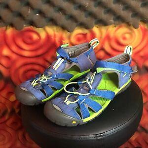 KEEN Seacamp II Cnx 1014479 True Blue Jasmine Green Shoe Sandals Size 5