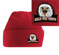 Eagle Fang Karate Embroidered Beanie Hat Warm Woolen Martial Art Cobra Kai Movie