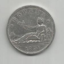 23B) ESPAÑA 2 PESETAS 1870 *75 - SILVER 0,835 - XF/MBC