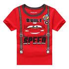 Cartoon Cars Enfants Costume Bébé Garçon Manche Courte Été Haut T-shirt T-shirts