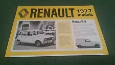 August 1976 1977 Model RENAULT UK RANGE BROCHURE 4 5 6 12 16 15 17 20 30