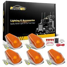 5xAmber Cab Marker Lights+T10 5730 LED Xenon White+Wire for Ford F-250/350 80-97