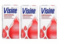 Lot Of 3 VISINE Original Redness Relief Eye Drops - 1 Fl Oz (30ml)