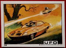"UFO - Monty Gum (1970) - Card #54 - ""Alien Attack on Automobile"""