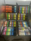 HUGE Parker BIG RED Rollerball Pen COLLECTION OF 83 Mint or Unused  in 2 Cases