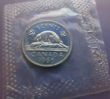1965 CANADIAN 5 CENTS NICKEL ~ SEALED ~ COLLECTIBLE UNCIRCULATED COIN
