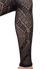 DIESEL Size 2 / S Women's SKF-LOREN-LACE Patterned Lace Everyday Footless Tights