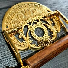 More details for 24k gold plated victorian toilet roll holder vintage great western railway gwr