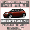 *WORKSHOP MANUAL SERVICE & REPAIR GUIDE for MINI COOPER S 2006-2013