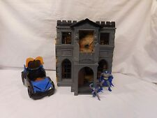 Batman 1991 Kenner DC Comics Wayne Manor Batcave Playset + Imaginext Batmobile