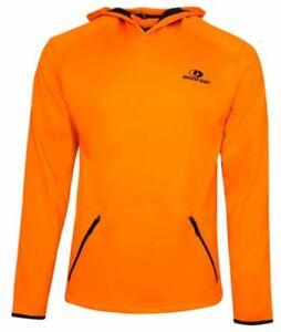 Mossy Oak Men's Fleece-Lined Hoodie w/ Neck Gaiter & Zipper Pocket-Blaze Orange