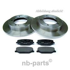 DISC PADS KIT FOR DAIHATSU CHARADE 1.0 2003-2007 FRONT SOLID BRAKE DISCS SET