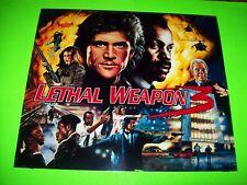 Data East LETHAL WEAPON 3 Original 1992 Pinball Machine Translite Art Mel Gibson