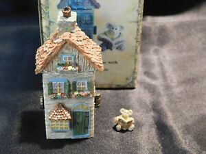 "Boyds Treasure Box PREMIER EDITION! ""JULIE'S DOLLHOUSE w/A.P. MCNIBBLE""-3E - NIB"