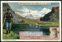 Italy Lac Lake Gabiet Gressoney Valley Mont Rose Alps 1920s Trade Ad Card