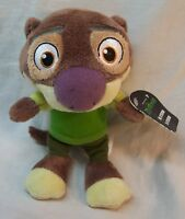 """TOMY Disney Zootopia MR. OTTERTON OTTER 7"""" Plush STUFFED DOLL Toy NEW"""
