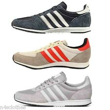 Adidas Mens Adistar Racer Shoes Trainers Blue / Silver / Red Size 4 - 6.5